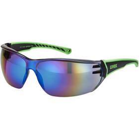 UVEX Sportstyle 204 Lunettes de sport, black/green/green